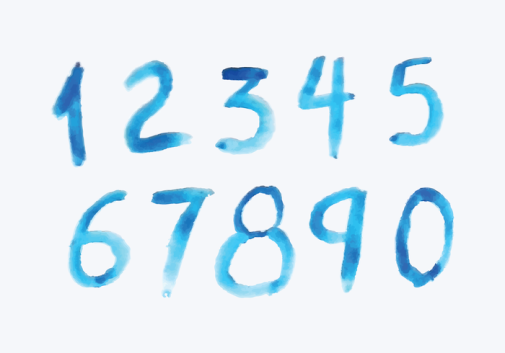 vector-watercolor-style-numbers
